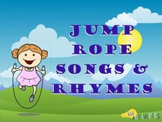 The ulimate list of 25 jump rope songs, rhymes, and games. Enjoy some traditional jump rope songs as well as some catchy new songs. Songs For Toddlers, Rhymes For Kids, Summer Activities For Kids, Kids Songs, Indoor Activities, Jump Rope Songs, Jump Rope Games, Elementary Music, Elementary Education