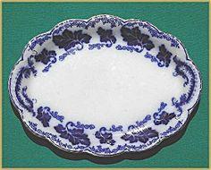 "Flow Blue: NORMANDY platter (12½"")"