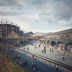 BIG & Heatherwick Studio to Design New London HQ for Google,Heatherwick Studio's design for the new Coal Drops Yard shopping area at King's Cross. Image © ForbesMassie