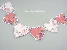 i love 2 cut paper: Heart Banner - Print & Cut