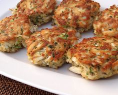 Maryland Crab Cakes  http://recipesquickandeasy.blogspot.com/2012/12/maryland-crab-cakes.html