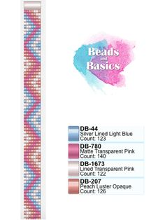 pastel summer miyuki delica beadloom pattern - patronen voor weefarmbandjes