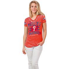 Philadelphia Phillies Women's Burnout T-Shirt by 5th & Ocean - MLB.com Shop