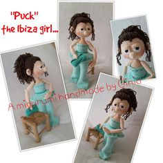 """Puck, the Ibiza girl"" design and pattern by Ginia Mees"