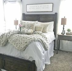 modern farmhouse bedroom ideas #farmhouse #farmhousedecor #farmhousestyle #farmhousebedroom #bedroom #bedroomdecor #bedroomdesign #bedroomideas Cozy Bedroom, Home Decor Bedroom, Bedroom Furniture, Bedroom Ideas, Bedroom Designs, Pretty Bedroom, Furniture Sets, Bedroom Setup, Furniture Buyers
