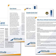 Altitude Communications - informational leaflets