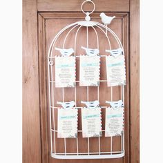 Bird Cage Wire Cream Metal Heart Table Plan / Photo Holder Shabby Style Vintage in Home, Furniture & DIY, Wedding Supplies, Other Wedding Supplies | eBay