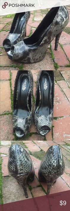 e9111af444e32b Snakeskin High Heels Size 7. Charlotte Russe brand. Perfect condition.  Charlotte Russe Shoes