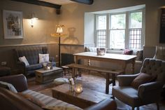 Pub lounge, butI could totally live with decor like this :)  The White Hart Somerton