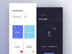 Cloud Mining UI by Cuberto
