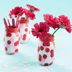 Valentine's Day Mason Jar Vase