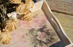 Creativite / Vintage tácka Roses