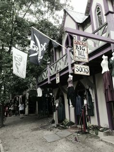 Michigan Renaissance Festival.  I go every year, it's great. We do the Highland Fling weekend.