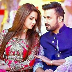 Atif Aslam with his beautiful wife Celebrity Singers, Celebrity Couples, Celebrity Weddings, Celebrity Pictures, Atif Aslam Wife, Pakistani Wedding Outfits, Pakistani Dresses, Wedding Dresses, Pakistani Culture