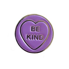 BE KIND love heart enamel pin by sugarandvicedesigns on Etsy https://www.etsy.com/listing/256983226/be-kind-love-heart-enamel-pin