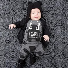 Baby clothes 2Pcs set newborn boys clothes cartoon pattern long sleeve t shirt + pants suit infant toddler girls clothing set #clothing,#shoes,#jewelry,#women,#men,#hats,#watches,#belts,#fashion,#style