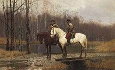 """Włodzimierz Łoś (1849-1888)  """"Powstańcy"""",1883,olej na płótnie  Reminiscencja z Powstania Stycznioweg"""