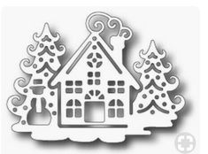 Tutti Designs - Cutting Die - Winter House - New Ideas Christmas Stencils, Christmas Art, Christmas Projects, Christmas Decorations, Christmas Ornaments, Diy And Crafts, Paper Crafts, Winter Coffee, Winter Flowers