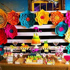 Let's party like there no mañana at this Flamingo Fiesta birthday party from @amadordeparties!  Be dazzled by the paper flower backdrop! See all 38 party photos by clicking our bio link. ❤️    . . #catchmyparty #partyideas #birthdayideas #birthdaygirl  #flamingo #fiesta #florals #sprinkles #cupcakes #candypops #pretzelrod #love #follow #sweettreats #shoutout #party #follow #kidsparty #instalove #twitter #birthdaycake #paperflowers #instastyle #instaglam