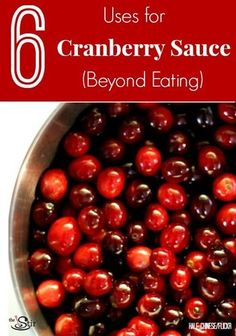 Who knew you could do stuff with cranberry sauce OTHER than eating it? http://thestir.cafemom.com/food_party/164400/6_things_to_do_with?utm_medium=sm&utm_source=pinterest&utm_content=thestir