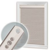 Motorization Lift System: raise or lower shades with control, wall switch or automatic timer.