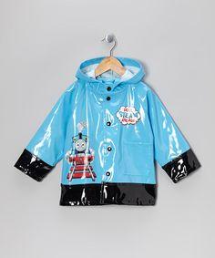 Blue & Black Thomas the Tank Engine Raincoat - Toddler & Kids