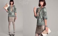 Pair a sequined skirt with chunky sweater to make any day a special occasion. #shopruche #ruche