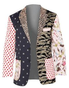 Foul Fashion Men's Tacky Mixed Prints Patterns Unique Blazer Jacket | eBay