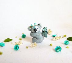 Koala figurine. Adorable fairy koala figurine. One of a kind.