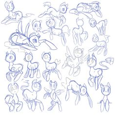 Sketches: Pony Poses by Rannarbananar on deviantART