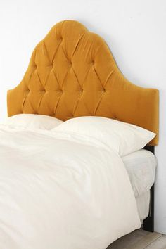 Velvet Tufted Headboard, Antique Gold - traditional - headboards - Urban Outfitters