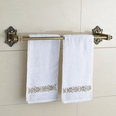 >> Click to Buy << Antique European Brass Double Towel Bar Bathroom Towel Bars Bathroom Towel Rack Wall Mounted Bathroom Accessories #Affiliate