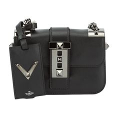 a8c1b1f8dd Valentino Black Small Chain Shoulder Bag (New with Tags)