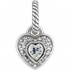 ABC Sparkle Heart Charm