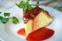 Cookbook: Двошарова сирна запіканка з ягідним соусом.