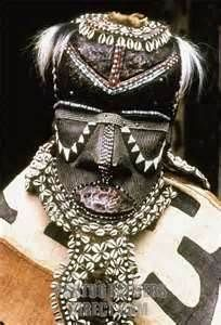 Bushoong mask from Congo, Africa.