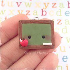 #kawaii #charms #polymer #clay #cute #chalkboard #charm