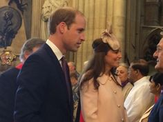 British Royals via Twitter: Duke and Duchess of Cambridge arrive for Commonwealth Day Services, March 9, 2015