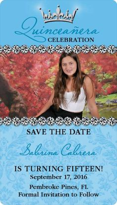 Quinceanera Save the Date Card | {Special Touches :)} | Pinterest ...