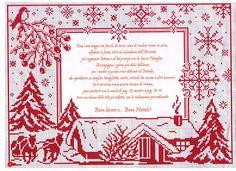 Red on White Christmas frame