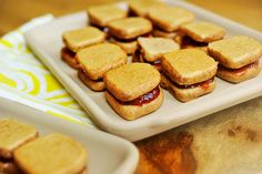 Tasty Kitchen Blog: Peanut Butter and Jelly Sandwich Cookies. Guest post by Georgia Pellegrini, recipe submitted by TK member Erica of Sweet Tooth.