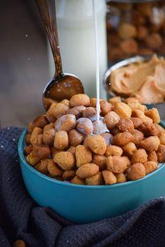 Homemade Peanut Butter Crunch Breakfast Cereal Puffs