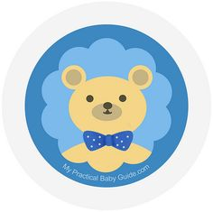 Free Printable #Boy #Bear #Baby #Shower Cupcake Toppers. Visit this page for more ideas how to throw a bear baby shower and for more free printable.