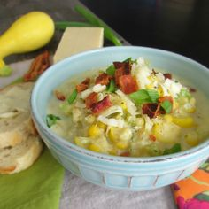 Summer Squash and Corn Chowder