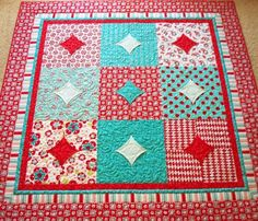 good treatment for 10 minute blocks.  Like the multi-piece mitered border