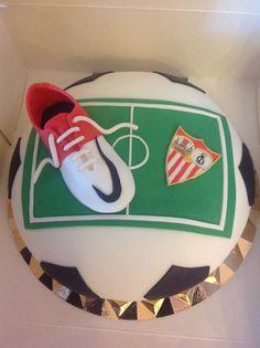 Soccer birthday cake. Sevilla F.C.