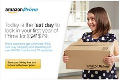 Today is the last day to lock in your first year of Prime for $79