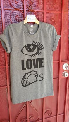 db3d4d2328a Items similar to I Love Tacos Graphic Unisex Super-cute tee shirt for women  or men