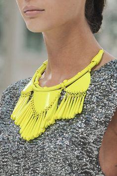 Not-so-mellow yellow necklace Yellow Necklace, Neon Jewelry, Yellow Jewelry, Bib Necklaces, Fringe Necklace, Women's Jewelry, Jewellery Box, Estilo Fashion, Necklaces