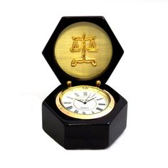 Bey-Berk Croco Leather 12 Cigar Humidor Brown for sale online Desktop Clock, Wood Chest, Tabletop Clocks, Black Wood, Large White, Pharmacy, Black And Brown, 3 D, Unique Gifts